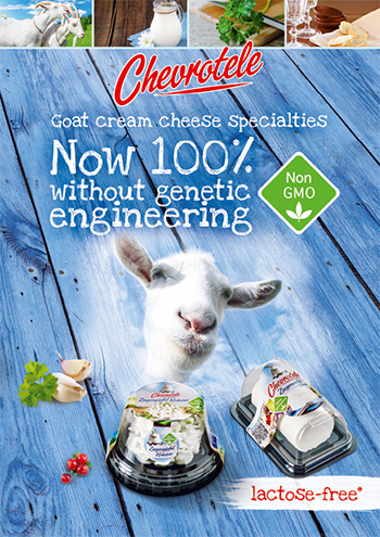 Chevrotele - Now 100% without genetic engineering and lactose-free*