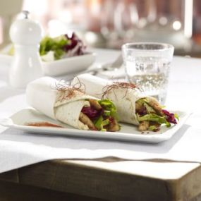 Chicken Wrap with avocado and radicchio